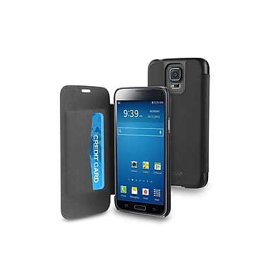 Muvit – Étuis Folio Easy pour Samsung Galaxy S5 avec pochette pour carte