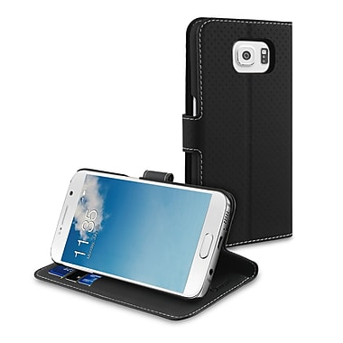 Muvit Samsung Galaxy S6 Wallet Folio Case with Multiple Cardslot, Black