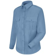 Horace Small Women's New Dimension Stretch Poplin Long Sleeve Shirt RG x S, Light blue
