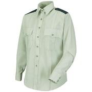 Horace Small Women's New Dimension Stretch Poplin Long Sleeve Shirt RG x M, Light green / spruce