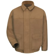 Bulwark  Men's Brown Duck Lined Bomber Jacket - EXCEL FR  ComforTouch  RG x L, Brown duck