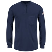 Bulwark Men's Long Sleeve Tagless Henley Shirt - EXCEL FR (SEL3NVRGL)