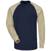 Bulwark Men's Long Sleeve Color-Block Tagless Henley Shirt - EXCEL FR (SEL4NKRG3XL)