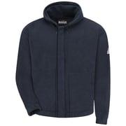 Bulwark  Men's Zip-front Hooded Fleece Sweatshirt - Modacrylic blend LN x 3XL, Navy