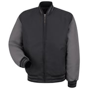 Red Kap  Men's Duo-Tone Team Jacket RG x S, Black / charcoal