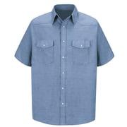 Red Kap Men's Deluxe Western Style Shirt SSL x 3XL, Light blue