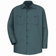 Red Kap Men's Wrinkle-Resistant Cotton Work Shirt RG x XL, Spruce green