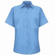 Red Kap Women's Industrial Work Shirt SS x XXL, Petrol blue
