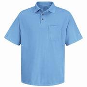 Red Kap Men's Performance Knit Polyester Solid Shirt SS x S, Medium blue