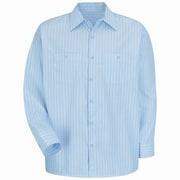 Red Kap Men's Industrial Stripe Work Shirt RG x 4XL, Light blue / navy stripe