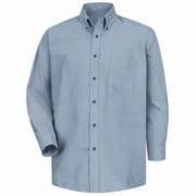 Red Kap Men's Poplin Dress Shirt 5XL x 345, Silver grey