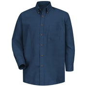 Red Kap Men's Poplin Dress Shirt 3XL x 345, Navy