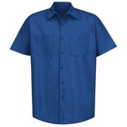 Red Kap Men's Industrial Work Shirt SS x 4XL, Royal blue