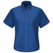 Red Kap Women's Poplin Dress Shirt SS x 16, Royal blue