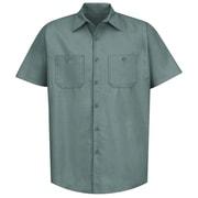 Red Kap Men's Industrial Work Shirt SS x L, Light green