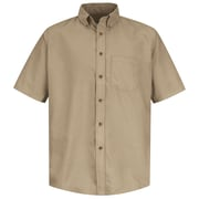 Red Kap Men's Poplin Dress Shirt SS x XXL, Khaki