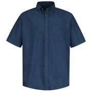 Red Kap Men's Poplin Dress Shirt SSL x XXL, Navy