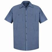 Red Kap Men's Industrial Stripe Work Shirt SSL