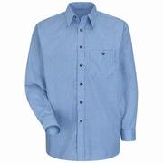 Red Kap Men's Mini-Plaid Uniform Shirt 3XL x 345, White / blue