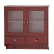 Woodland Imports Wood Wall Cabinet w/ Hook