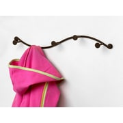 Spectrum Diversified Sweep Single 5 Hook Coat Rack; Venetian Bronze PC