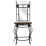 Hazelwood Home Console Table and Mirror Set
