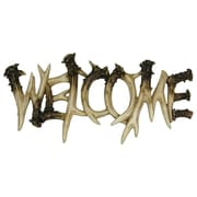 River's Edge Products Deer Antler Welcome Sign Wall Art