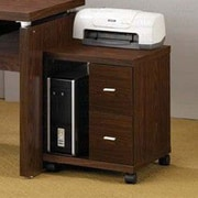 Wildon Home   Castle Pines Mobile Printer Stand; Brown