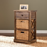 Wildon Home   Bourke 2-Basket Storage Shelf