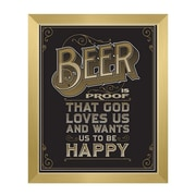 Click Wall Art Beer Is Proof That God Loves Us Framed Textual Art in Brown; 30'' H x 20'' W x 1'' D