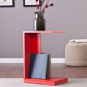 Wildon Home   Holly and Martin End Table; Red-Orange