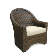 Castellano by Ancient Mosaic Studios Breakers Dining Arm Chair with Cushion; Frequency Sand