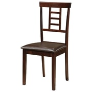 Glory Furniture Side Chair in Brown (Set of 2)