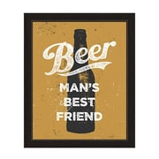 Click Wall Art Beer Man's Best Friend Framed Graphic Art in Black And Gold; 23'' H x 19'' W x 1'' D