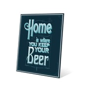 Click Wall Art Home Is Where You Keep Your Beer Textual Art Metal Plaque; 24'' H x 20'' W x 0.04'' D