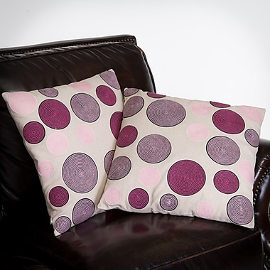 Home Loft Concepts Madrid Circles Throw Pillow (Set of 2)