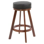 Wildon Home   Casino 29'' Bar Stool with Cushion; Cherry