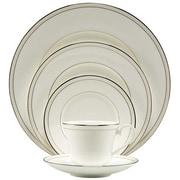 Nikko Ceramics Platinum Beaded Pearl 5 Piece Place Setting