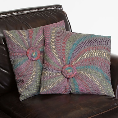 Home Loft Concepts Harmony Flannel Starburst Throw Pillow (Set of 2)