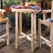 Rustic Cedar Cedar Bistro Table; 32'' W