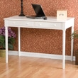 Wildon Home   Hannelore 2 Drawer Writing Table in Crisp White
