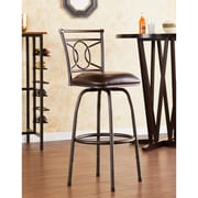 Wildon Home   Savannah 24'' Swivel Bar Stool with Cushion