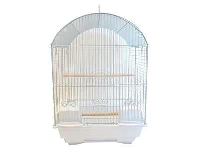 YML Round Dome Top Bird Cage; White WYF078276286666
