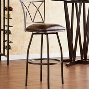 Wildon Home   Albertson 24.5'' Swivel Bar Stool with Cushion