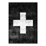 Americanflat Swiss Cross Poster Painting Print In Black