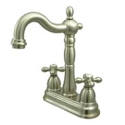 Kingston Brass Heritage Double Handle Centerset Bar Faucet without Pop-Up Rod
