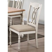 Iconic Furniture Contemporary Side Chair (Set of 2); Biscotti