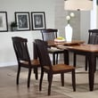 Iconic Furniture Open Side Chair (Set of 2); Whiskey / Mocha