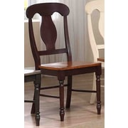 Iconic Furniture Napoleon Side Chair (Set of 2); Whiskey / Mocha