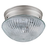 Capital Lighting 2 Light Flush Mount; Matte Nickel
